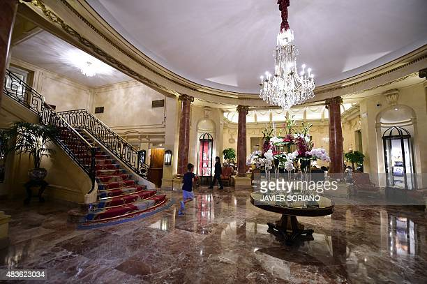 General view of lobby of the Ritz Hotel in Madrid on August 10 2015 Bought in late May 2015 by Hotel Group of Hong Kong Mandarin Oriental and the...