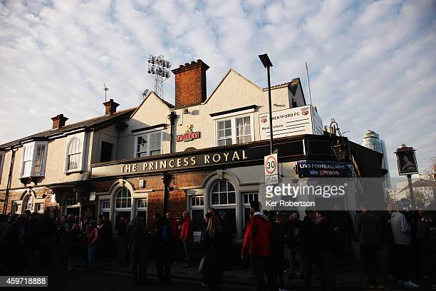 General view of local public house The Princess Royal before the Sky Bet Championship match between Brentford and Wolverhampton Wanderers at Griffin...