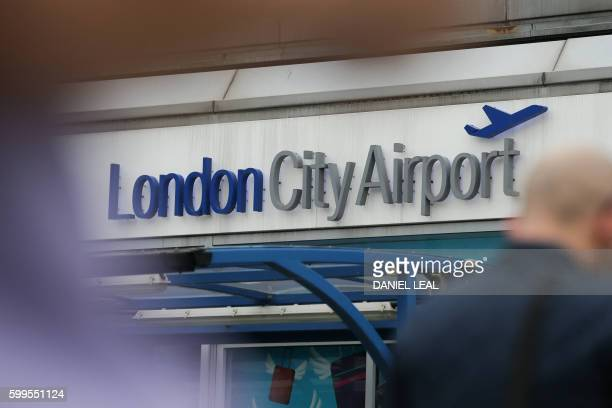 A general view of London City Airport in London on September 6 2016 / AFP / DANIEL LEALOLIVAS
