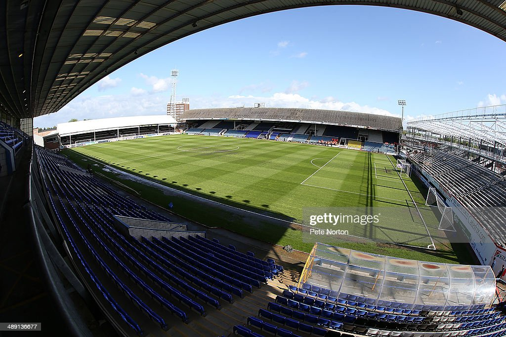 A general view of London Road Stadium prior to the Sky Bet League One Semi Final First Leg between Peterborough United and Leyton Orient at London Road Stadium on May 10, 2014 in Peterborough, England.