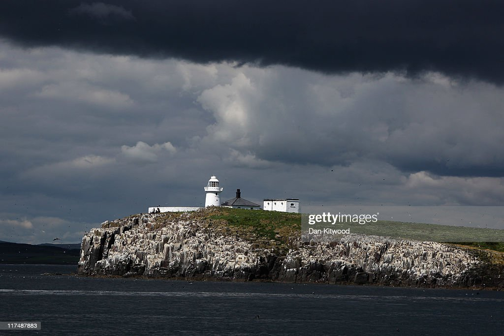A general view of Longstone Lighthouse on Inner Farn on June 24 on the Farne Islands England The Farne Islands which are run by the National Trust...