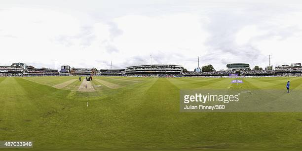 A general view of Lord's Cricket Ground during the 2nd Royal London OneDay International match between England and Australia on September 5 2015 in...