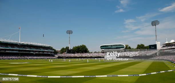 A general view of Lords on the first day of the first Test match between England and South Africa at Lord's Cricket Ground in central London on July...
