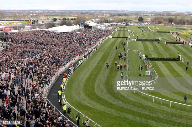 General View of Ma Filleule ridden by Barry Geraghty winning the Crabbie's Supporting Everton In The Community Topham Chase