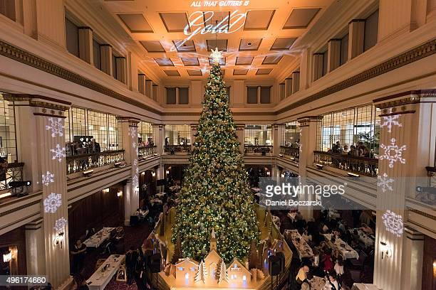 A general view of Macy's on State Street 108th Annual Great Tree Lighting Ceremony on November 7 on November 7 2015 in Chicago Illinois