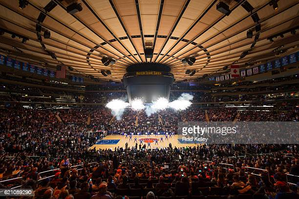 A general view of Madison Square Garden before the Memphis Grizzlies game against the New York Knicks on October 29 2016 in New York City New York...