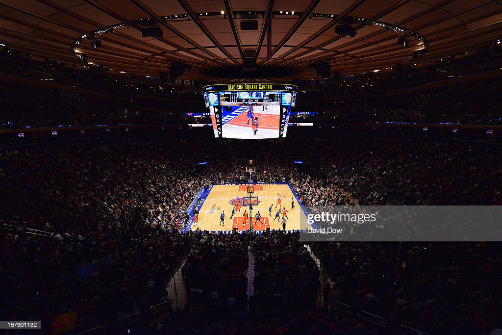 A general view of Madison Square Garden during the Minnesota Timberwolves game against the New York Knicks November 3, 2013 at Madison Square Garden in New York City, New York.