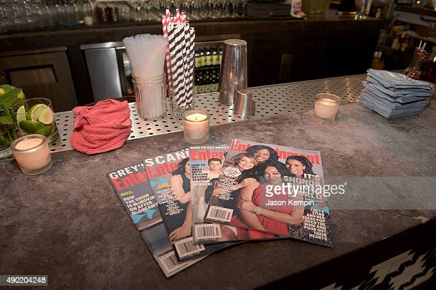 A general view of magazine covers on display at the Celebration of ABC's TGIT Lineup presented by Toyota and cohosted by ABC and Time Inc's...