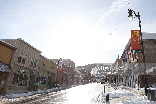 A general view of Main Street as Park City prepares for the 2016 Sundance Film Festival on January 24 2016 in Park City Utah