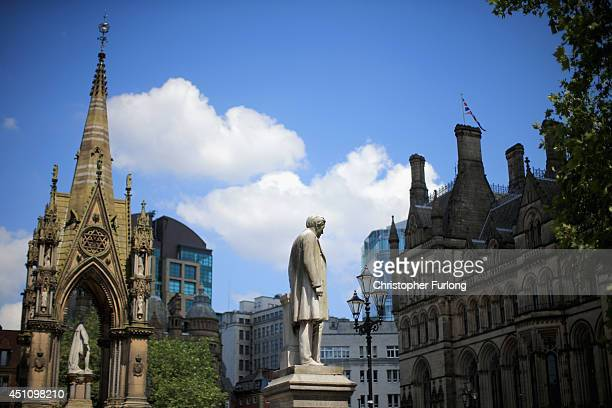 A general view of Manchester Town Hall in the City of Manchester on June 23 2014 in Manchester England Chancellor George Osborne announced today the...