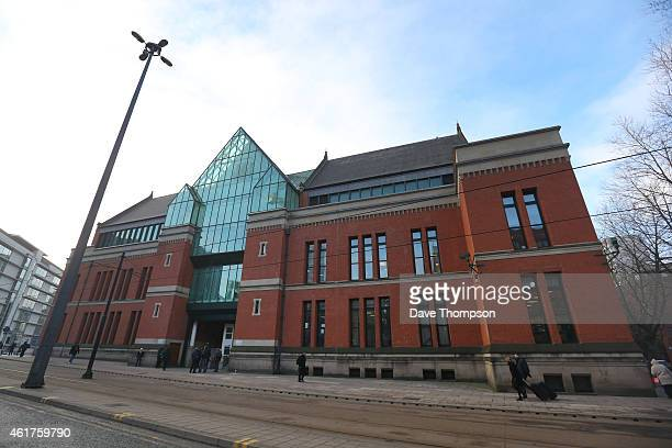 A general view of Manchester's Minshull Street Crown Court where former TV Weatherman Fred Talbot arrived at on January 19 2015 in Manchester England...