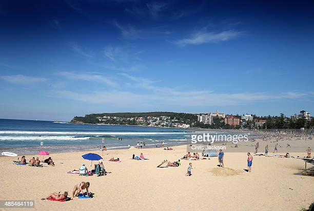 A general view of Manly Beach on April 18 2014 in Sydney Australia The Duke and Duchess of Cambridge are on a threeweek tour of Australia and New...