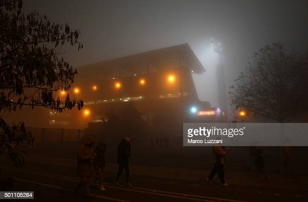A general view of Mapei Stadium before the Serie A match betweeen US Sassuolo Calcio and Torino FC suspended because of fog at Mapei Stadium Citta...