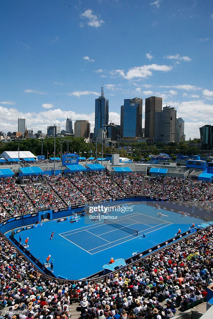 A general view of Margaret Court Arena during day one of the 2013 Australian Open at Melbourne Park on January 14, 2013 in Melbourne, Australia.
