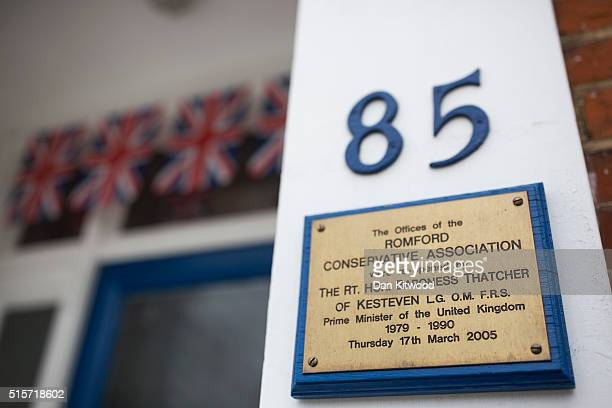 A general view of Margaret Thatcher House the surgery of Andrew Rosindell Member of Parliament for Romford on March 15 2016 in Romford England In a...