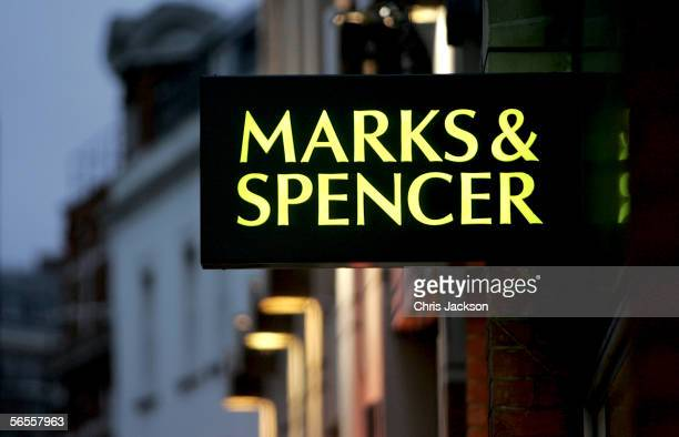 A general view of Marks and Spencer is seen on January 10 2006 in London England High street shops are releasing their latest sales figures revealing...