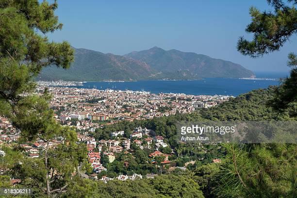 General View of Marmaris in Mugla,Turkey