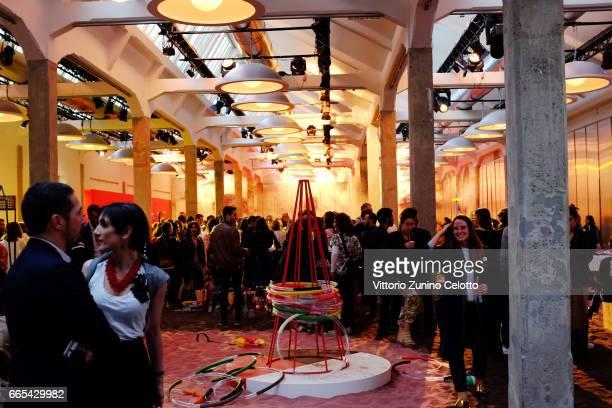 A general view of Marni playland opening during Milan Design Week on April 6 2017 in Milan Italy
