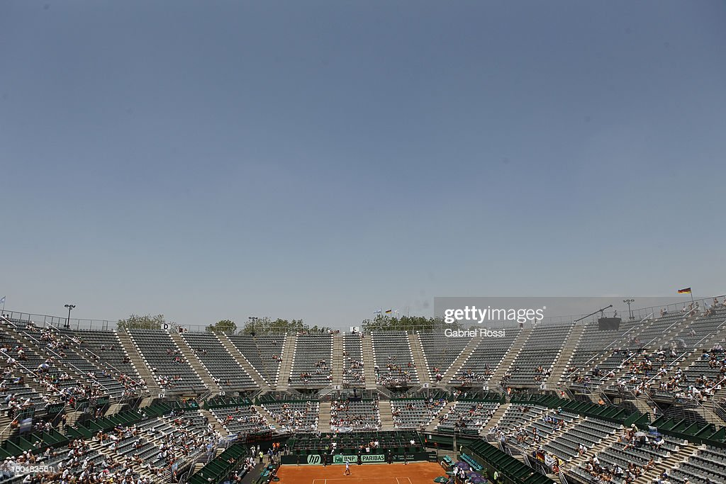 General view of Mary Terán de Weiss Stadium (aka Parque Roca) prior to the beggining of the first round series between Argentina and Germany on February 01, 2013 in Buenos Aires, Argentina.