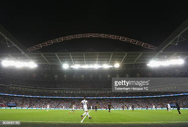 A general view of match action during the UEFA Champions League match between Tottenham Hotspur FC and AS Monaco FC at Wembley Stadium on September...