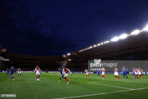 A general view of match action during the UEFA Champions League Semi Final first leg match between AS Monaco v Juventus at Stade Louis II on May 3...