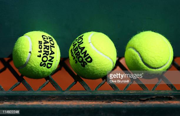 A general view of match balls on day eight of the French Open at Roland Garros on May 29 2011 in Paris France