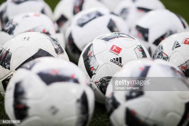 A general view of matchball 'Torfabrik' prior to the Bundesliga match between TSG 1899 Hoffenheim and SV Darmstadt 98 at Wirsol RheinNeckarArena on...