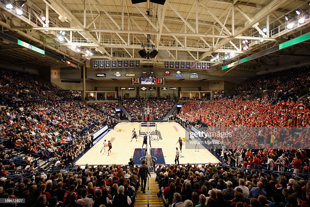 A general view of McCarthey Athletic Center during the basketball game between the Saint Mary's Gaels and the Gonzaga Bulldogs on January 10, 2013 in Spokane, Washington.