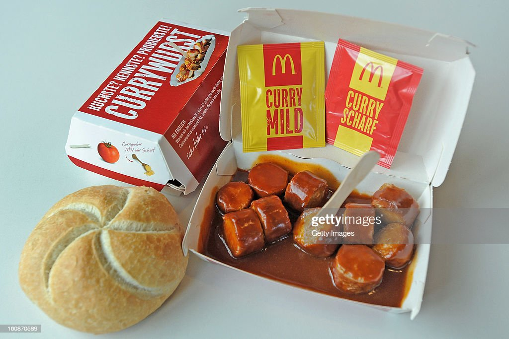 A general view of McCurrywurst from McDonald's on February 7, 2013 in Dortmund, Germany.