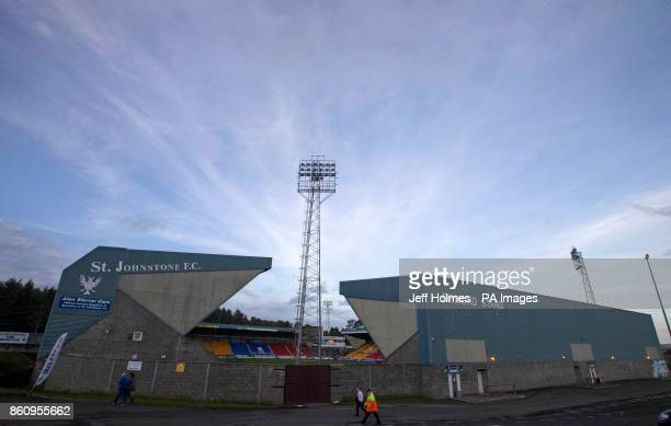 A general view of McDiarmid Park before the Ladbrokes Scottish Premiership match between St Johnstone and Rangers