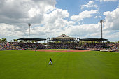 A general view of McKechnie Field during a game between the Pittsburgh Pirates and the Minnesota Twins on March 9 2015 in Bradenton Florida