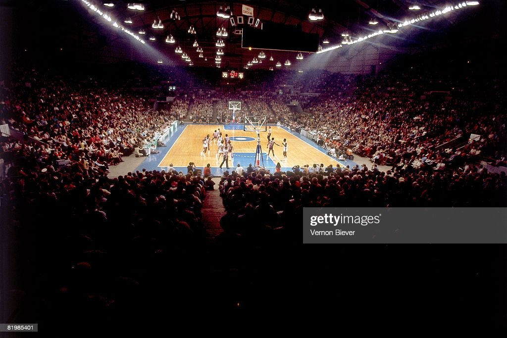 A general view of Mecca Arena home of the Milwaukee Bucks during the 1970 season at the MECCA Arena in Milwaukee Wisconsin NOTE TO USER User...