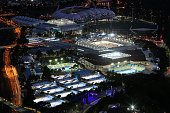 A general view of Melbourne Park during day five of the 2015 Australian Open at Melbourne Park on January 23 2015 in Melbourne Australia