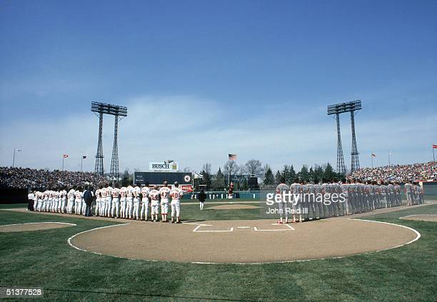 General view of Memorial Stadium as the Baltimore Orioles play the Chicago White Sox in Opening Day on April 2 1984 in the Baltimore Maryland