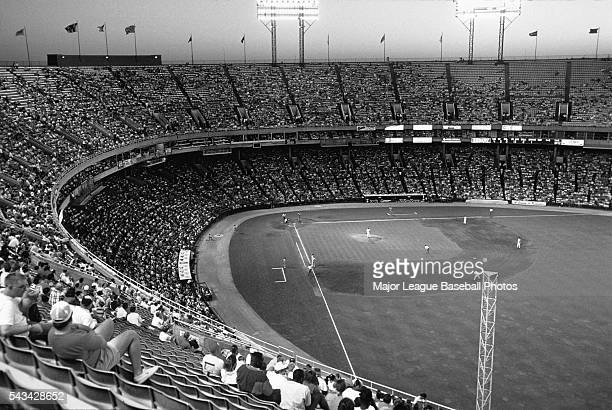 A general view of Memorial Stadium during a Baltimore Orioles game 1991 in Baltimore Maryland