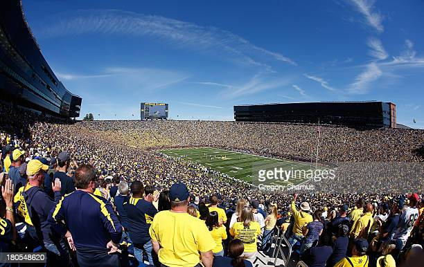 General view of Michigan Stadium during a game between the Akron Zips ad the Michigan Wolverines on September 14 2013 in Ann Arbor Michigan Michigan...