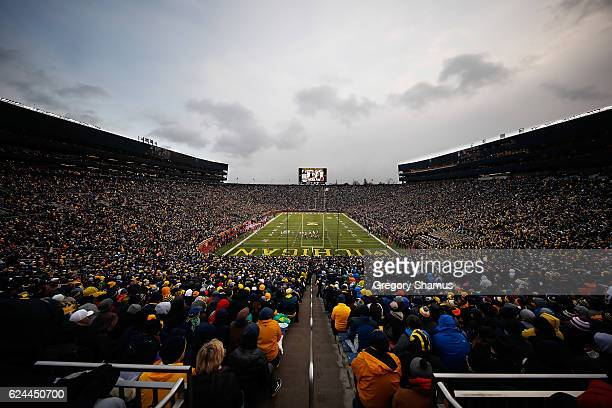 General view of Michigan Stadium during a game between the Indiana Hoosiers and Michigan Wolverines on November 19 2016 at Michigan Stadium in Ann...