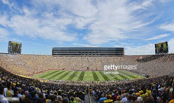 A general view of Michigan Stadium during the first quarter of the game between the Minnesota Golden Gophers and the Michigan Wolverines on September...
