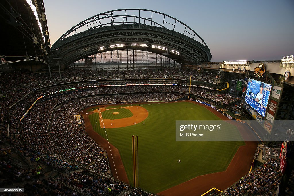 A general view of Miller Park during the game between the Milwaukee Brewers and the Arizona Diamondbacks on Saturday, June 30, 2012 in Milwaukee, Wisconsin.