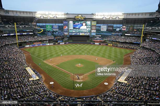 General view of Miller Park in the top of the fourth inning during the game between the Minnesota Twins and the Milwaukee Brewers during the...