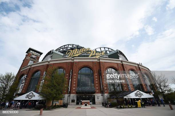 A general view of Miller Park prior to a game between the Milwaukee Brewers and the New York Mets on May 13 2017 in Milwaukee Wisconsin