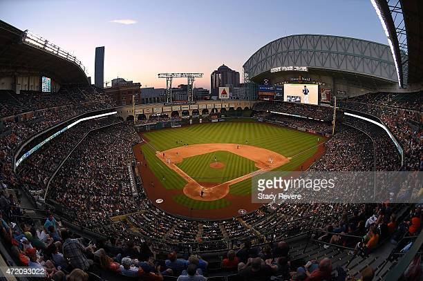 General view of Minute Maid Park during a game between the Houston Astros and the Seattle Mariners on May 2 2015 in Houston Texas