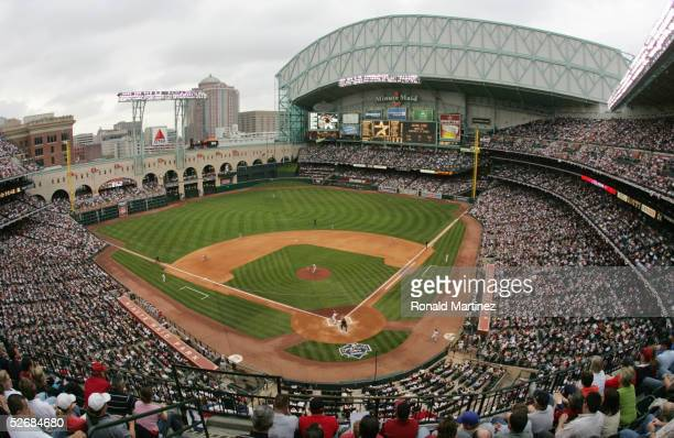 General view of Minute Maid Park during the game between the Houston Astros and the St Louis Cardinals on April 5 2005 at in Houston Texas The...
