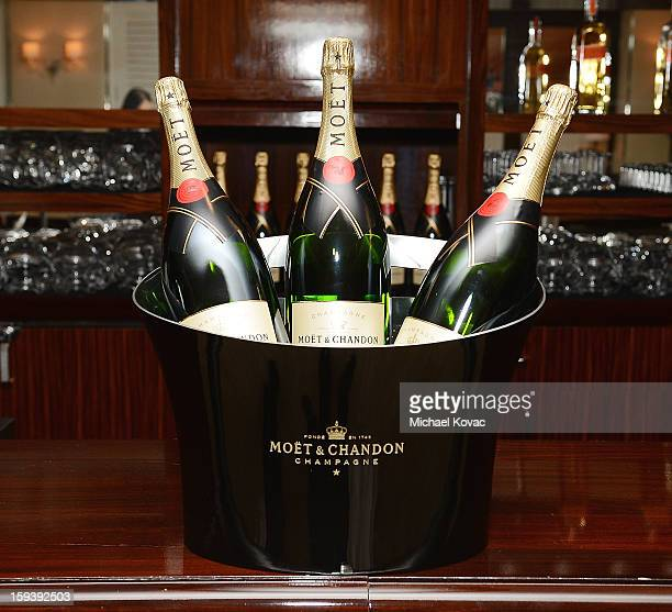 General view of Moet Chandon champagne bottles at Moet Chandon and the HFPA Toast The Weinstein Company Golden Globe Nominees at Mr C Beverly Hills...