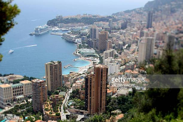 WEDDING General view of Monaco taken on June 10 2011 in Monaco Prince Albert and and his South African swimming champion fiancee Charlene Wittstock...
