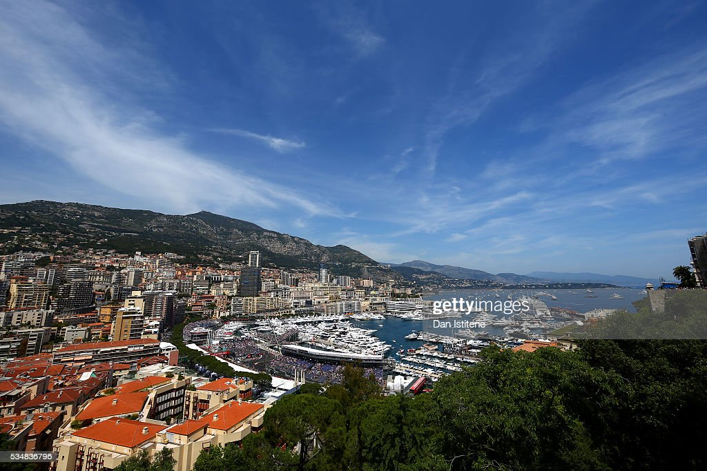 A general view of Monaco with <a gi-track='captionPersonalityLinkClicked' href=/galleries/search?phrase=Sebastian+Vettel&family=editorial&specificpeople=2233605 ng-click='$event.stopPropagation()'>Sebastian Vettel</a> of Germany driving the (5) Scuderia Ferrari SF16-H Ferrari 059/5 turbo (Shell GP) on track during final practice ahead of the Monaco Formula One Grand Prix at Circuit de Monaco on May 28, 2016 in Monte-Carlo, Monaco.