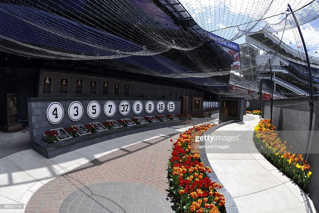 A general view of Monument Park located beyond the centerfield wall of the stadium prior to a game on April 18 2009 between the Cleveland Indians and...