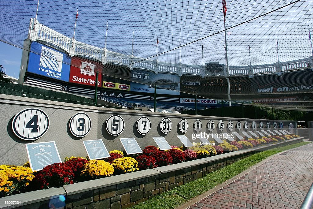 A general view of monument park prior to the game between the New York Yankees and the Baltimore Orioles on September 21 2008 at Yankee Stadium in...