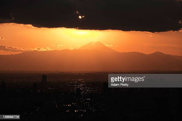 A general view of Mount Fuji Tokyo and the surrounding area on February 10 2012 in Tokyo Japan