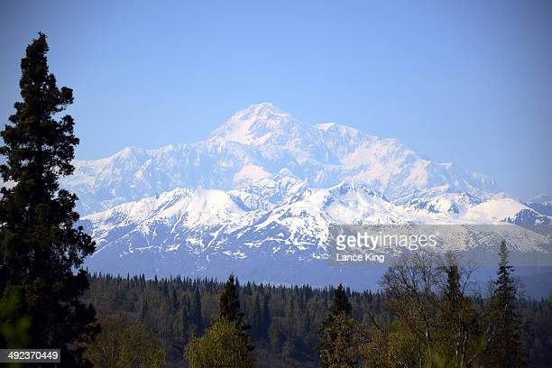 A general view of Mt McKinley on May 12 2014 in Denali National Park Alaska According to the National Park service the summit elevation of Mt...